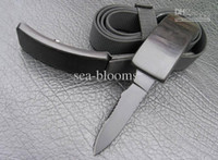 Wholesale Hot sale fabric belt knife hunting safety knife camping knives in black self defense tool