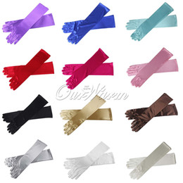 Wholesale 15 quot Long Satin Stretch Gloves Above Elbow Bridal Prom Wedding Formal GV