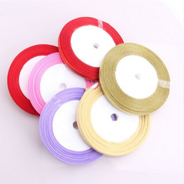 Wholesale 250yard mm10mm12mm15mm20mm25mm nylon satin ribbon for candy box accessory decoration flower wedding baby favor
