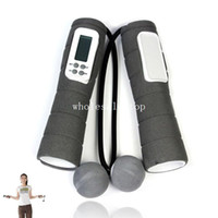 Wholesale 2013 New Arrival LCD Wireless Digital Ropeless Diet Jumping Skipping Rope Calorie Burner Sports amp