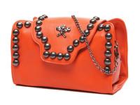 Women Plain PU Handbag Online 2013 New Fashion Designer Punk Skull Rivets PU Personalized Bag For Tide Girls Shoulder Bag Crossbody Bag Hot Sale Cheap