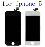 For Apple iPhone 5 5G LCD Screen Panels  Original For iPhone 5 5G LCD Screen Digitizer Replacement Parts Assembly Front Full Apple iphone5 Touch Screen Digitizer Glass Black White