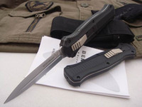Wholesale Black Edition Benchmade Infidel OTF McHenry Design hunting knife Double Action HRC Spear Point Christmas gift
