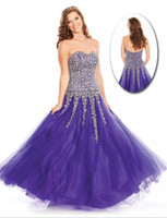 Cheap Wow Prom ! Sparkle Fashion Sweetheart Sleeveless A Line Floor Length Crystal Sequins Beads Tulle Prom Ddress Pageant Dress