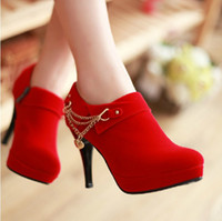Wholesale 2013 Spring Fashion high heel sexy zipper waterproof women s shoes