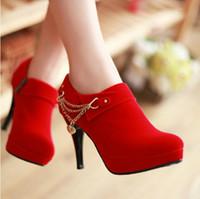 Wholesale 2015 Spring Fashion high heel sexy zipper waterproof women s shoes