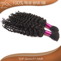 Wholesale 4pcs virgin remi malaysian hair bulk deep wave curly human hair bulk for braiding hair extensions