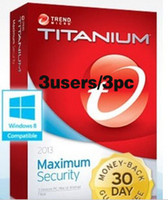 Antivirus & Security Home Windows Trend Micro Titanium Maxmium Security 2013 1 Year 3 PCs license key activation code all language