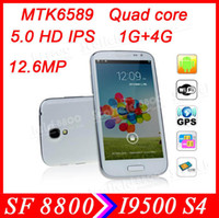Feiteng 5.0 Android4.2.1 5.0'' 1280*720 HD Screen MTK6589 Quad Core smart phone 12MP Camera high 1:1 S4 i9500 FeiTeng H9500+ 1GB RAM 8GB ROM Android 4.21 GPS
