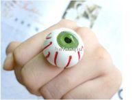 Wholesale Japanese Harajuku bloodshot eyeball eyeballs eyes Korean version of the influx of people ring ring women jewelry