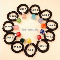 Wholesale Factory direct Korean candy colored squares hair ring hair rope hair accessories hairpin headdress