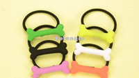 color rubber hair bands - 2013 new Korean fashion Harajuku style dog bones fluorescent color hair rope hair ring hairpin