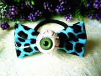 Wholesale Factory outlets Korean Harajuku leopard bow hair ring hair rope bloodshot eyeball hairpin hair jewelry