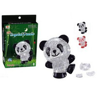 Wholesale DIY Panda Kids Educational d Crystal Puzzle China Animal Jigsaw Puzzle Craft Challenge Intelligence Toys