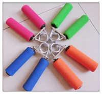 Wholesale Sponge Spring Hand Grips Finger Strength Hand Exercise Forearm Strength Builder Tool