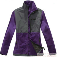 Wholesale New Apparel High Quality Female Outdoor Black and purple denali fleece Climbing Skiing Jackets