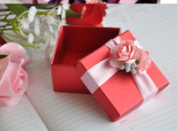 Wholesale square candy paper box Wedding Party chocolate box wedding favor box