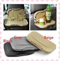 Wholesale Car Back Seat Beverage Rack Drink Holder Bottle Stand Foldable Plastic Dining Tray Colors