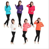 Wholesale Maternity Nursing Wear Maternity nursing clothes nursing long sleeve underwear Elastic oversized