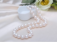 Wholesale New Fine Pearl Jewelry inch mm AAA Akoya Natural white Pearls Rope Necklace K
