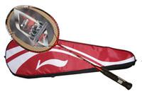 Graphite badminton racket lining - N90 first version lining badminton rackets woods N90 High end badminton racquet free shipment