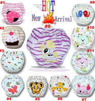 Wholesale Spring Layers waterproof Baby pitty Training Pants Owl Lady Bug Bee Diapers Zebra Learning pants Shorts