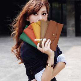 Wholesale fashion women long design coin purse card bag holder envelope bag Wallets purse evening ba