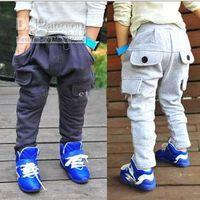 Unisex best fleece pants - Hot Sale New Children Trousers Fleece Big Pocket Best Quality Baby Boys Harem Pants Year Kids Casual Pants