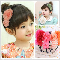 Chiffon princess accessories - Baby Hair Accessories Kids Hair Bows Fashion Headwear Children Accessories Hair Bows With Chiffon Flower Princess Hair Bows Baby Hair Bands