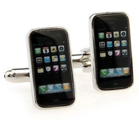 Wholesale phone shaped cufflinks Interesting cuff link