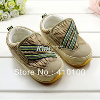 Boy Summer Cotton S318 New Boys Black and green striped khaki casual shoes rubber sole Bottom toddler foot wear For Boys Free shipping