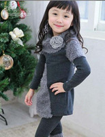 Girl baby girl sweater tights - Autumn Winter Children s Outfits Sweater tights set baby girl casual suit winter warm clothes girls suit
