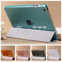 Wholesale Thin PU Leather case for iPad Mini Smart Cover with Stand New Arrival made of PU Front Plastic Back Cover