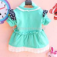 Girl Spring / Autumn Children Super Fashion Trend Dark Blue Bowtie Decoration Baby Girls' Outerwear Chest Floral Lace Rim Princess Coat Children Cardigan
