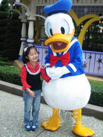 Wholesale Professional Cartoon blue Donald Duck CARTOON MASCOT COSTUME SUIT ADULT SIZE bnmv