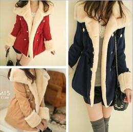 Wholesale Ladies Woman Warm Wool Coat Winter New Slim Korean Double breasted wool coat