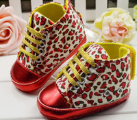 Unisex Winter Cotton 30%off DISCOUNT-Red Leopard soft bottom toddler shoes. Thick lace casual shoes. Medium waist.cheap.china.sale.baby wear 6pair 12pcs C