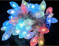 Wholesale Fedex LED pine cone colorful light M LED Festival Xmas Light Decorated for Wedding Party holiday US Plug