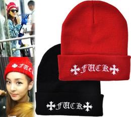 Wholesale Hot Selling Winter Fashion FUCK Wool Cap FUCK Beanie Women Winter Warm Hat For Men