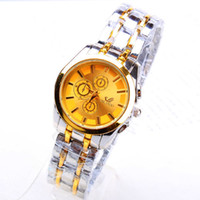 Wholesale Cheap Invicta style Luxury Hands holes Water Resistant Stainless Steel Band Quartz Analog women s dress Wrist Watch
