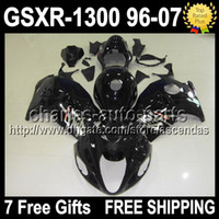 7gifts Fairing ALL black For SUZUKI Hayabusa GSXR 1300 96- 07...