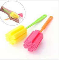 Wholesale Simple and durable cleaning sponge brush cup brush cup brush cup convenient multi purpose glass mug brush cleaning brush bottle brush glass