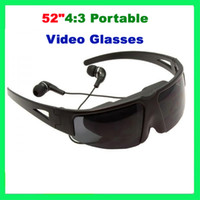 Wholesale Hot Sale quot Portable Video Glasses FPV Glasses with AV IN Function for IPod IPhone PSP PMP MP4 MP5 DVD etc