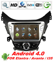 Wholesale 2 Din quot Android Car DVD for Hyundai Elantra Avante I35 with GPS G WIFI Car PC PIP RDS BT ATV IPOD WIFI dongle