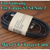 Wholesale V8 Micro Charger Cable for Samsung Galaxy S3 S4 Note m ft Sync Date Charging Cord Lead for Galaxy I9300 I9500 N7100 for android HTC