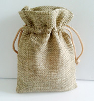 Wholesale promotional jute gift pouch bags can order to make any size and print logo