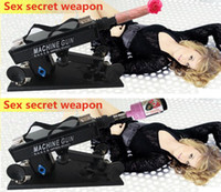 Wholesale Super Weapon Sex Products CVT Sex Machine With Dildo Masturbator Anal Carnival Plastic Gun Cannon Massager Guaranteed Health Care DS A3