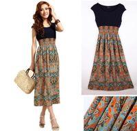 Wholesale Women's Boho Clothing chiffon dresses bohemian