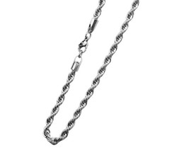 Wholesale 3MM Men s Silver Stainless Steel Necklace Cable Rope Chain CM Length