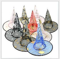 Wholesale Halloween Costumes Halloween Party Props Cool Witches Wizard Hats Various Color Hot Sale